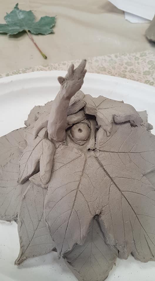 Green man clay